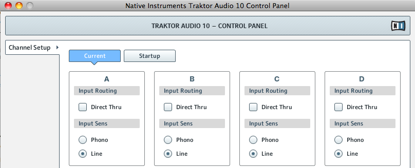 Native Instruments Audio 10 Control Panel