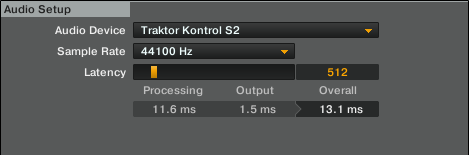 Traktor Audio Setup