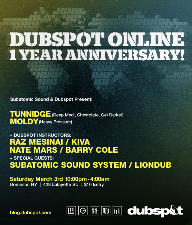 dso anniversary party tunnidge Tomorrow in NYC: Dubspot Onlines One Year Anniversary