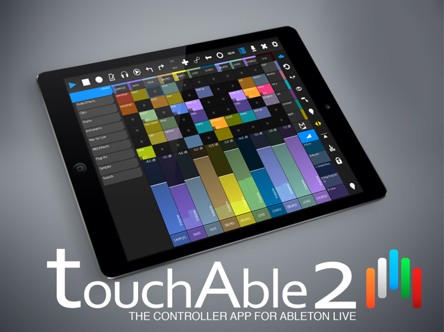 iOS Music App Overview: touchAble 2 Ableton Live Controller for iPad and iPhone