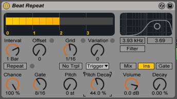 2 beat Pitch Decay Beat Repeat