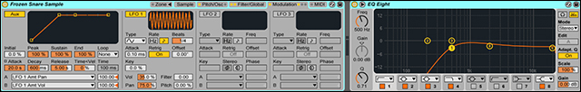 Modulation Tab and EQ
