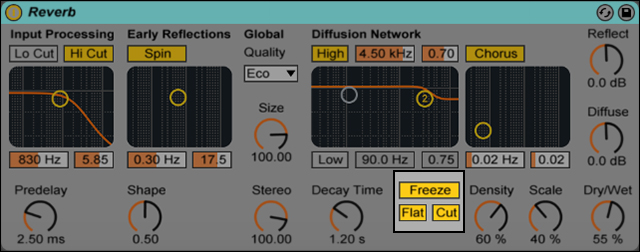 Reverb Freeze Button